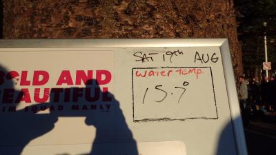 Sat 26 Aug water temp
