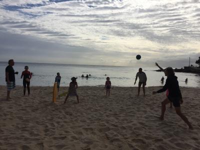 Beach cricket v