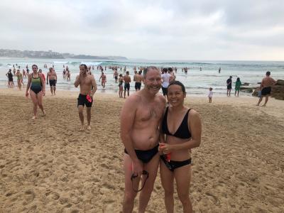 Post swim