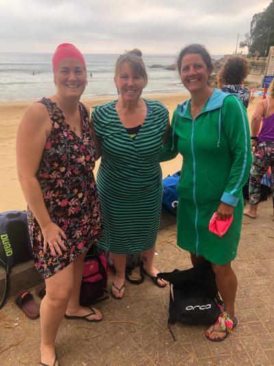 Bringing fab colour pre swim