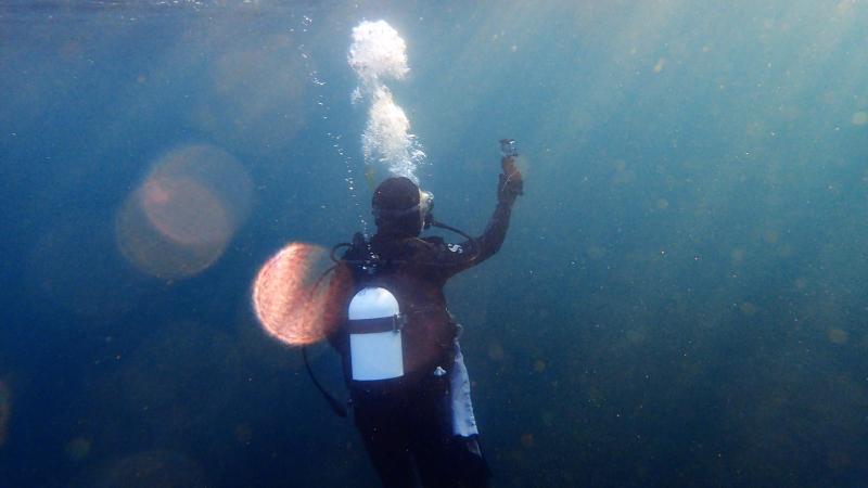 Diver selfie