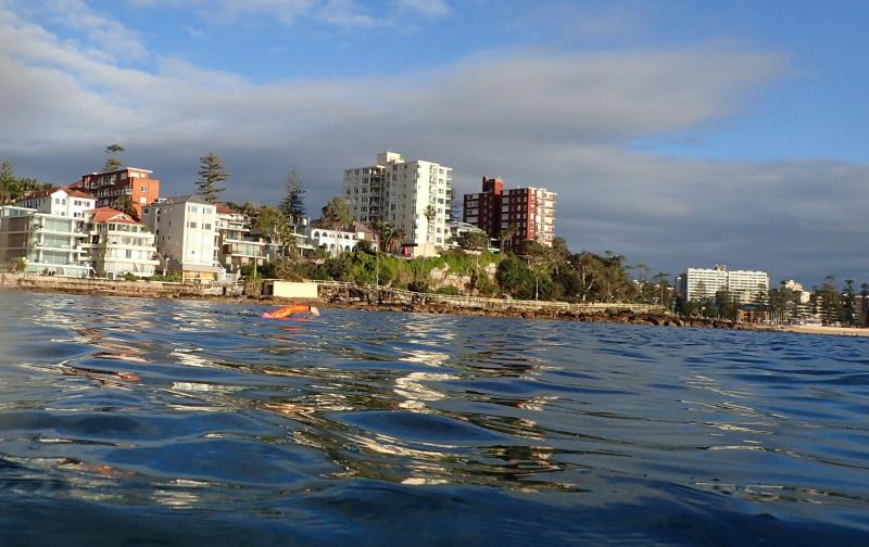 Swimmer morning light