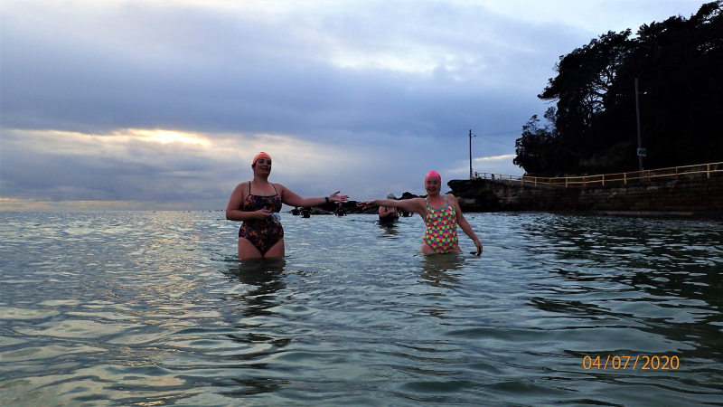 2 swimmers at Manly