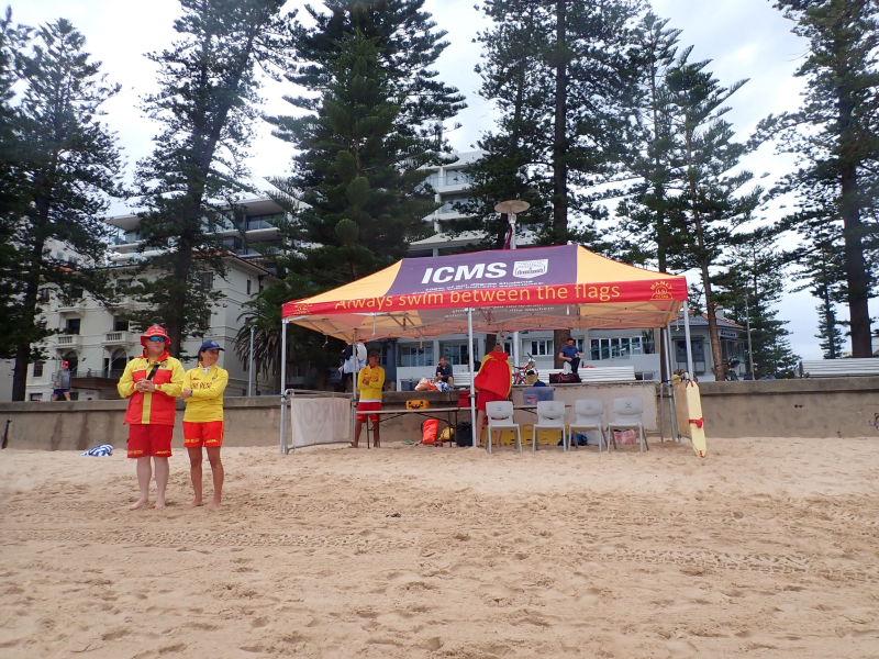 On patrol at Manly