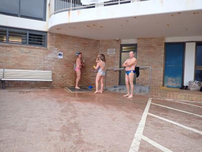 Uppma first swim