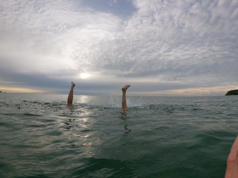 Aquarobics experts showing off