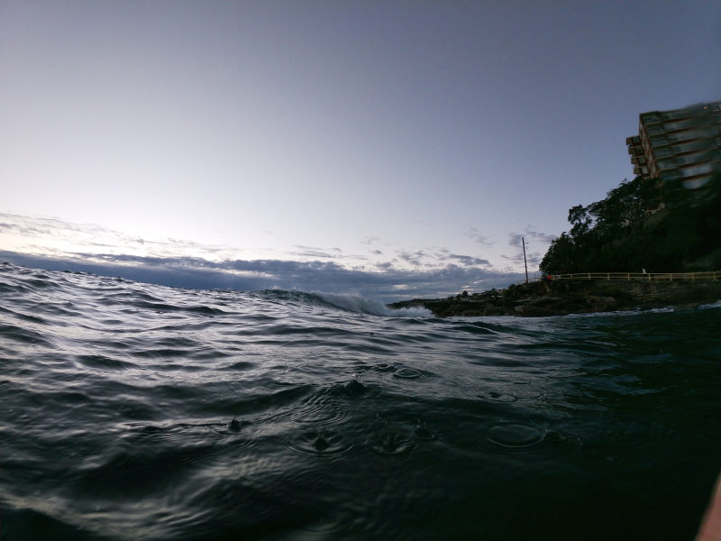Small swell at point