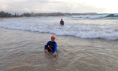 Definning after swim